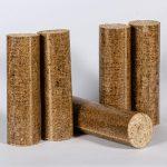 Dřevěné brikety válec
